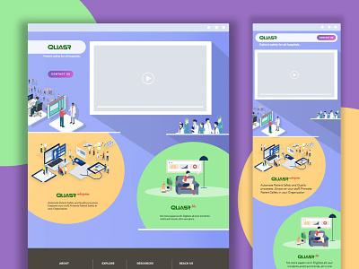 HOME PAGE - QUASR vector minimal flat design illustration website design webdesign web