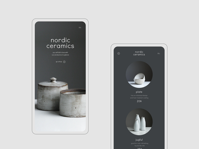 App for Nordic Ceramics ux ceramics shop design ui website typogaphy style elegant webdesign web minimalism figma estetic