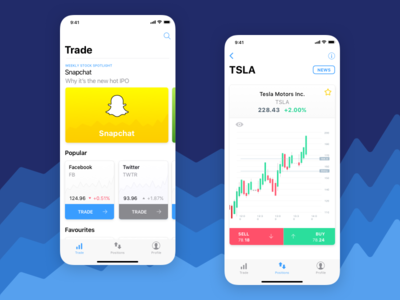 Minimalistic Stock Trading App Concept
