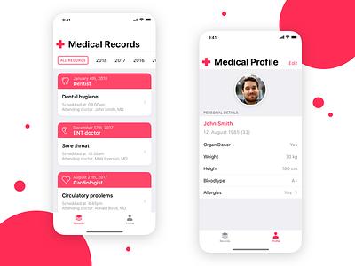 Medical Records Concept App health medicine app mobile ios