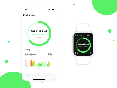 Calorie Tracker App Concept app fitness apple watch health mobile ios