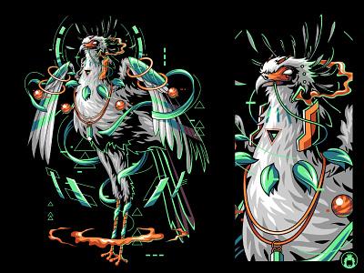 Secretary Bird vector art vectorart corel bird animal t-shirt t-shirtdesign tee graphicdesign commission illustration vector