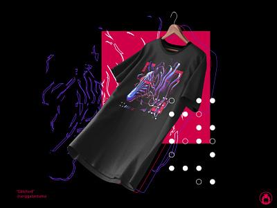 Glitched Tshirt cyberpunk urban tshirts t-shirt t-shirt design illustrator apparel illustration t-shirtdesign vector tshirt design tshirt