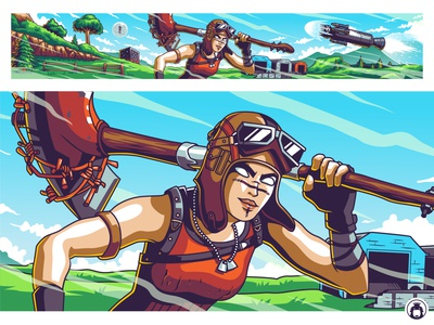 Youtube Banner Design for Hypex battle royal hypex fortnite gaming game vibrant commission design vector illustraion banner youtube