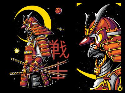 Warrior vectorart tee t-shirt design apparel t-shirtdesign merchandise t-shirt tshirt illustration vector katana japanese warrior japan samurai ronin
