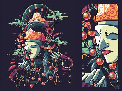 Tari Topeng tshirt t-shirt t-shirtdesign illustration vector tari topeng mask topeng dance tari nusantara seni budaya indonesia