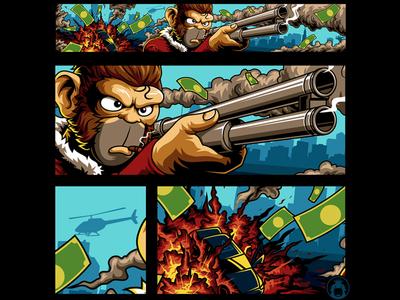 Brox Banner playstation urban gun monkey brox youtube gta5 vector graphicdesign commission illustration
