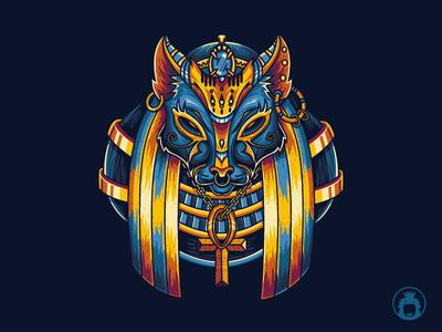 egypt mythology 1 vector vectorart clothing apparel illustration graphictshirt tshirtdesign tshirt tee god egyptian cat