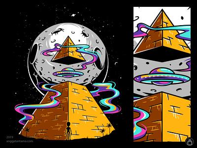 Pyramid vectorart apparel t-shirt tee illustrator t-shirtdesign illustration vector illuminati alien ufo pyramid