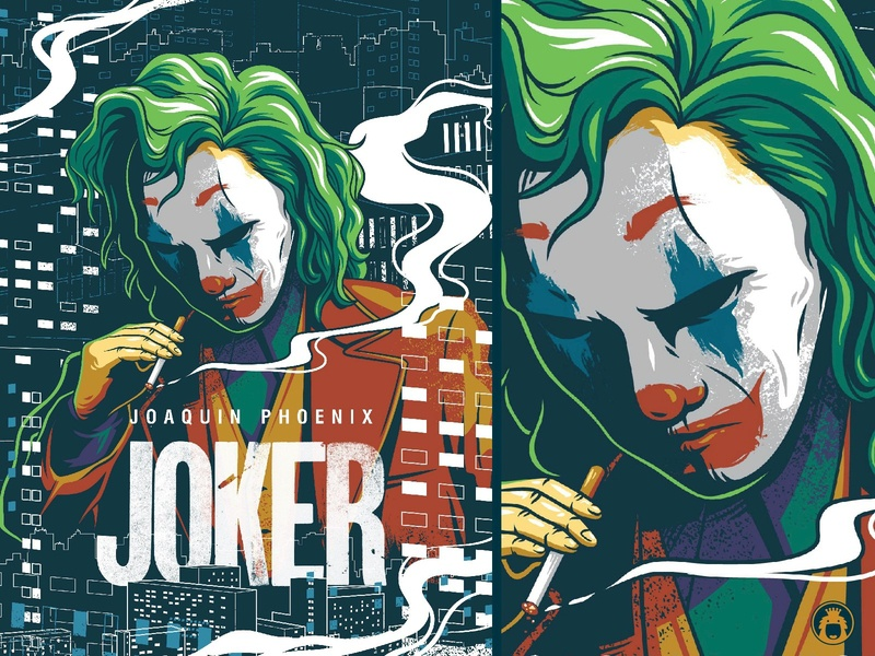 Joker illustrator illustration vector clown movie poster comic dc joker