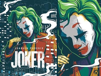 Joker illustrator illustration vector clown movie poster comic dc joker