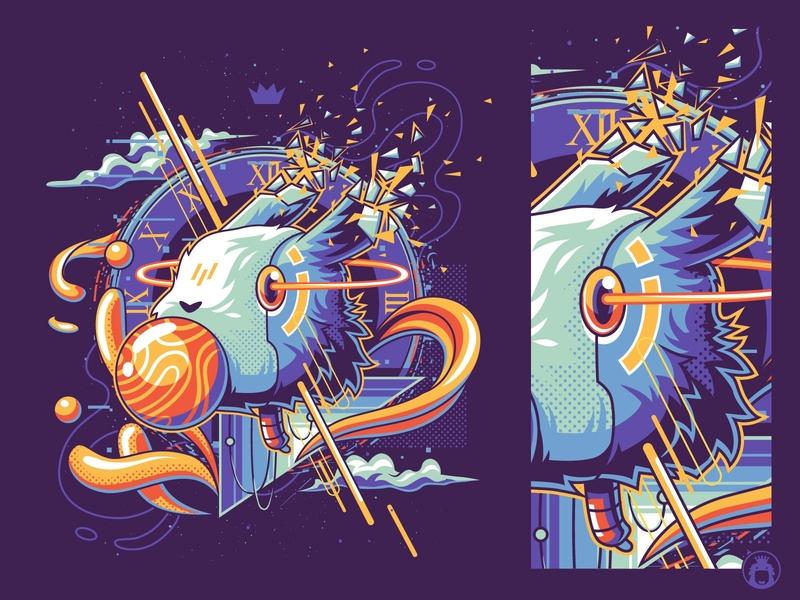 Enjoying the Dream animal illustration t-shirt design illustrator vectorart tshirt t-shirt t-shirtdesign tee illustration vector animal rabbit bunny