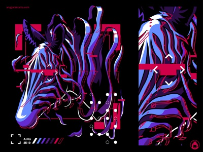 Glitched animal apparel urban t-shirt design vectorart t-shirt t-shirtdesign illustrator illustration vector