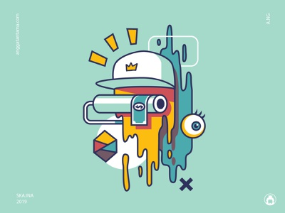 paint t-shirt design vectorart illustrator tee t-shirt t-shirtdesign graphicdesign commission illustration vector paint surrealism