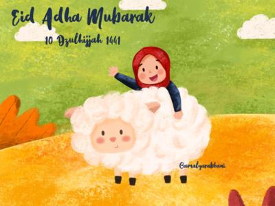 Happy eid adha❤️ artworks procreate childrenbooks childrenillustration illustration