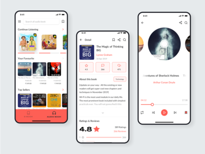 Audiobook App UI Kit