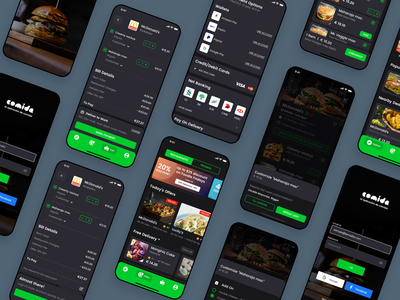 Comida - The Food App bill app design foodie food design mobile list ux clean ui sketch minimal app delivery cart buy