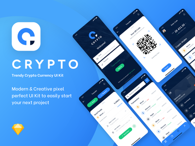 Crypto UI Kit premium ui kit currency mobile app mobile ripple bitcoin price ux ui creative concept clean wallet crypto wallet crypto