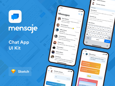 Mensaje   Chat App UI free minimal clean ui neat clean mobile android ios type edit compose search profile list app design chatbot chatting mensaje message chat