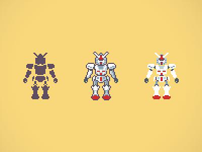 Gundam japan pixel robot gundam pixelart