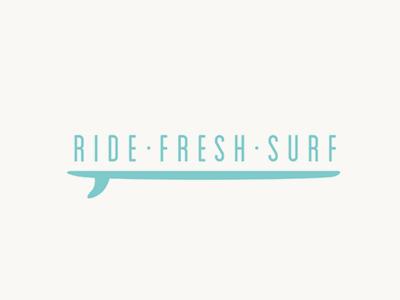Ride Fresh Surf Logo