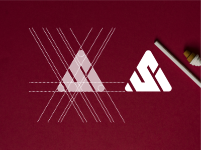 AS realestate consultant finance general dubai america mark logo design illustration logodesign brandidentity monogramlogo monogrampixel logotype graphicdesign corporatedesign company logo company branding