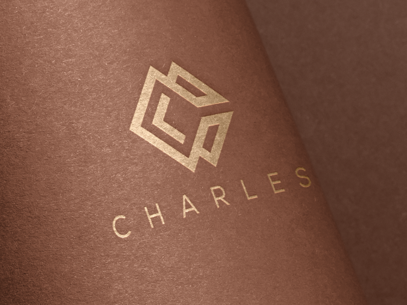 CHARLES finance realestate london dubai vektor skull branding america logo logotype general company logodesign brandidentity monogrampixel monogramlogo illustration graphicdesign company logo corporatedesign