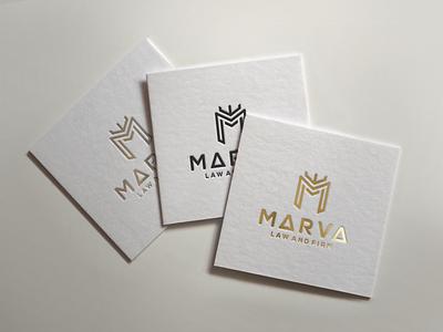 MARVA ui illustration design monogramlogo logo company logodesign branding corporatedesign company logo monogrampixel