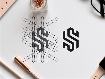 S HEXAGON monogramlogo monogrampixel logodesigner london paris america qatar dubai branding design brandidentity graphicdesign logotype logodesign logo flat design corporatedesign company logo company branding