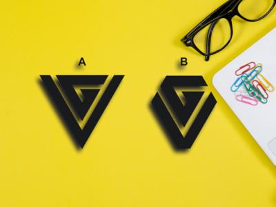 VG TRIANGLE VS DIAMON constructions consultant consulting realestate bank finance america company general graphic design logo logotype brandidentity monogrampixel graphicdesign design logodesign corporatedesign company logo branding