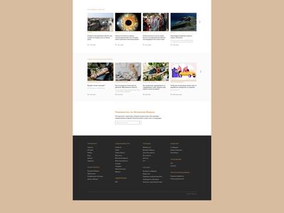 Meduza — News portal redesign concept subscribe to newsletter footer newspaper news website ux ui webdesign