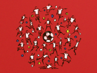 World cup 2018 illustration