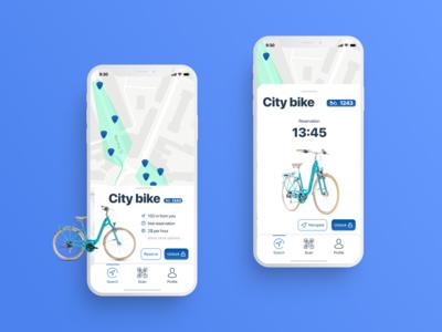 Bike rent app - reservation screen