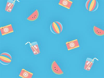 ShootProof Summer Sale Icons illustration ad sale watermelon drink icon camera summer