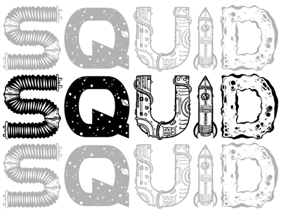 Squid Bikes Space Age Logo