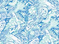 Squid Bikes Odd Characters Pattern