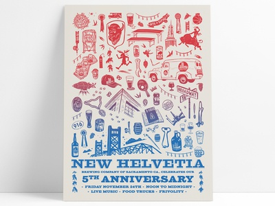 New Helvetia Brewery Poster