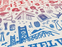 New Helvetia Brewery Poster Detail