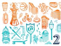 Downtown Sac Icon Detail