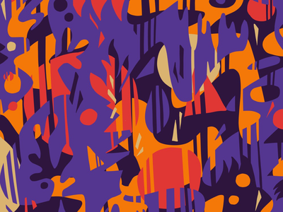 Cuts: Purple Red Orange Pattern shapes vector artwork wallpaper patterns illustration surface pattern pattern