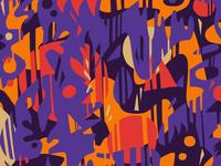 Cuts: Purple Red Orange Pattern