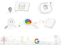 Google Line Art Illos