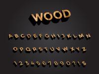 Wooden Letters - Font