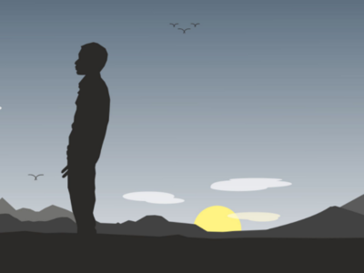 Silhouette Man Wallpaper - Vector