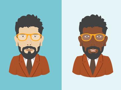 Arab & African man portrait