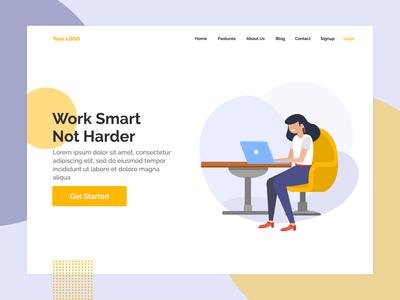 Homepage design for website