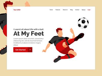 Football Website Homepage