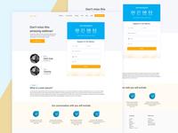 Webinar Page Layout