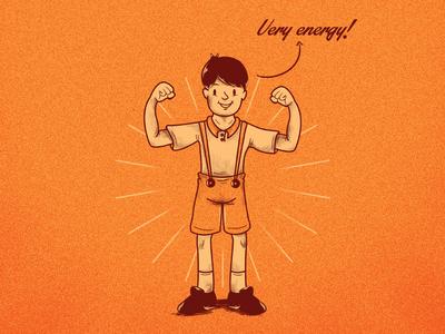 A Strong boy!