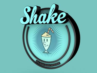 Shake - 3D Cartoon Lettering